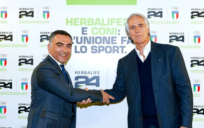 Herbalife Fornitore Ufficiale Squadra Olimpica Italiana CONI