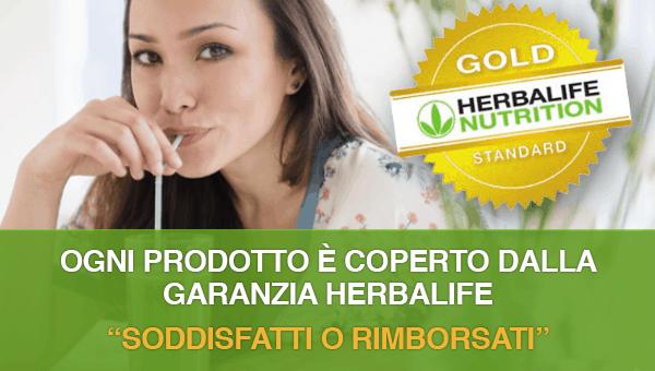 Herbalife Garanzia Soddisfatti o Rimborsati