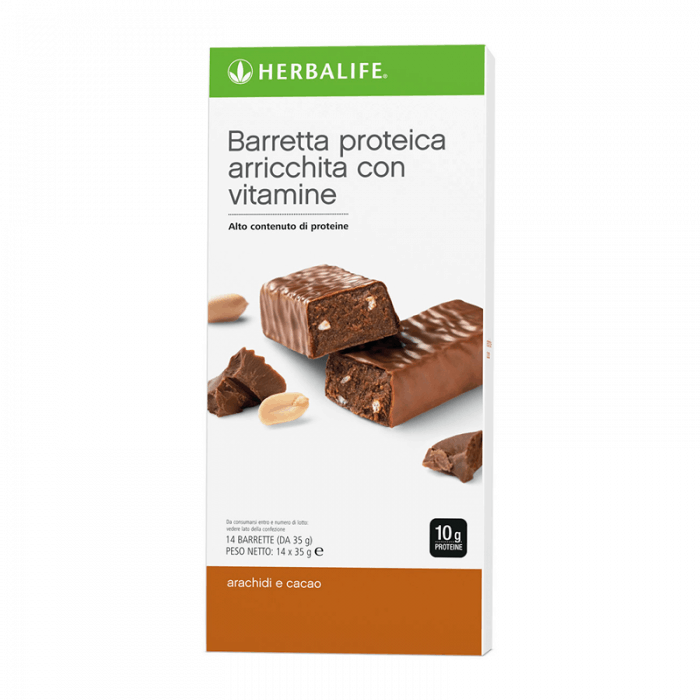 Herbalife Soluzioni Proteiche Barretta Proteica Snack Gusto Cacao Arachidi