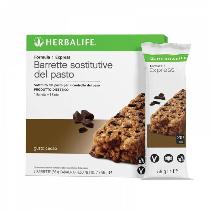 Herbalife Formula 1 Sostituto del Pasto Barrette Proteiche Gusto Cacao