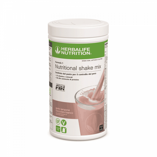 Prodotti per Perdere Peso Herbalife - Formula1 Sostituto del Pasto Gusto Lampone Cioccolato Bianco Free