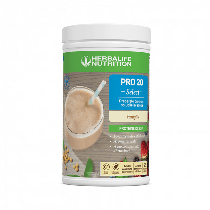 Integratori Alimentari Herbalife - Soluzione Proteica - Pro 20 Select Gusto Vaniglia